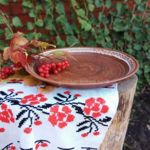 """Глиняная тарелка """"Аврора"""""""