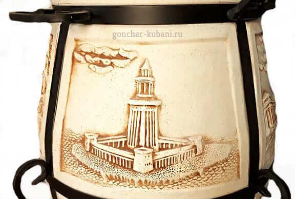 Тандыр рисунок Александрийский маяк