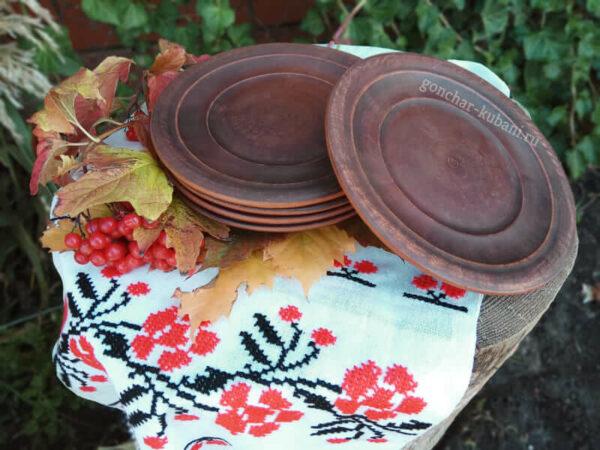 Глиняная тарелка 15 см.
