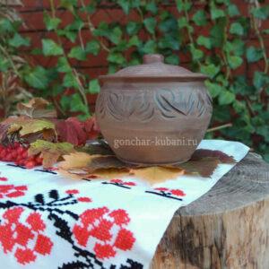 """Глиняный горшок """"Осенний шелест""""2"""