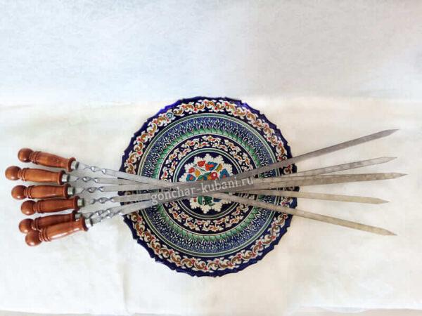 Шампура с деревянной ручкой 65 см