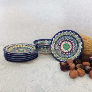 керамика риштан тарелка