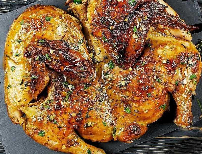 Приготовление цыпленка тапака в казане