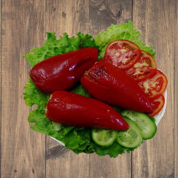 Фаршированный болгарский перец в тандыре